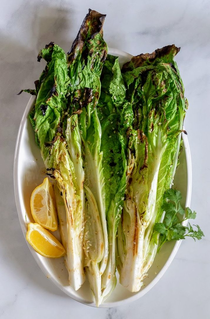 Grilled Napa Cabbage With 3 Ingredient Dressing The Simple Supper
