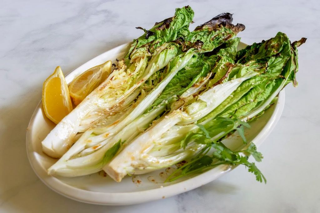 Grilled Napa Cabbage with an easy 3 ingredient sauce.